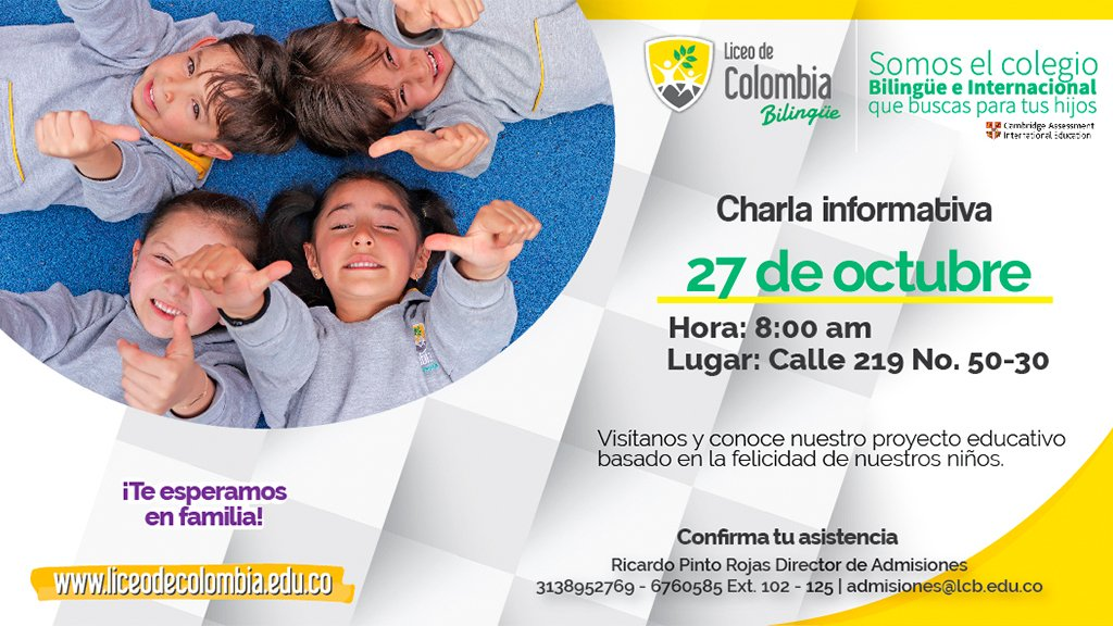 Open House 27 de Octubre Liceo de Colombia