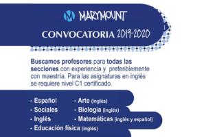 Convocatoria 2019 – 2020 – Colegio Marymount (Bogotá)