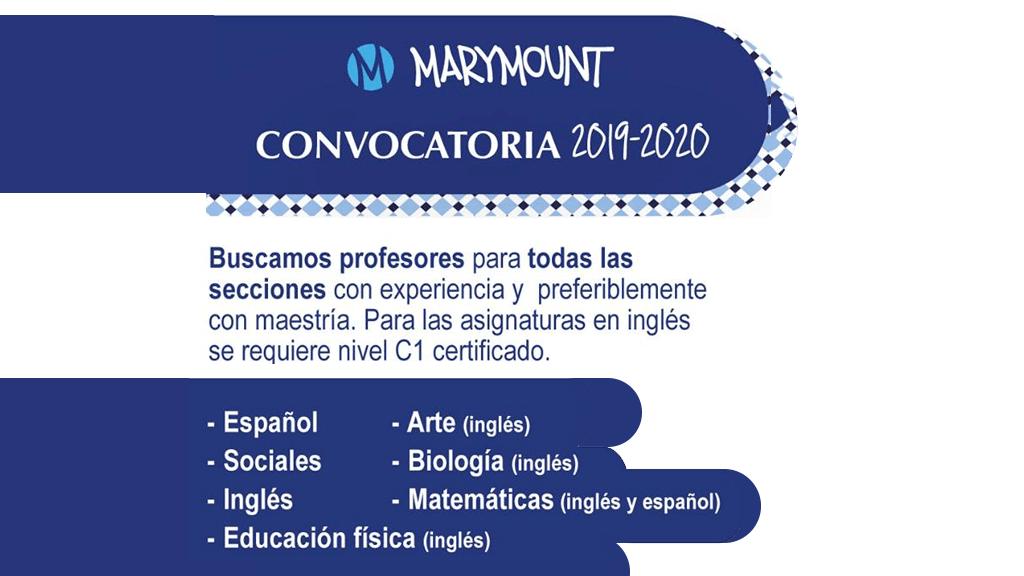 Convocatoria 2019 - 2020 - Colegio Marymount (Bogotá)