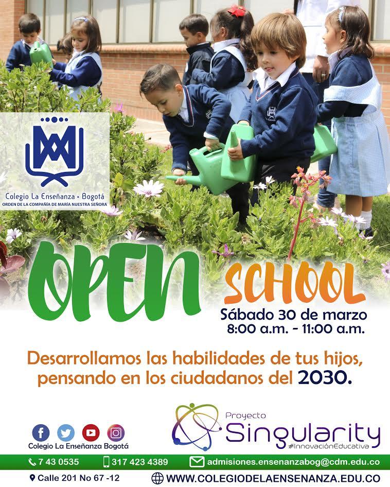 Open School en el Colegio de la Enseñanza este 30 de marzo