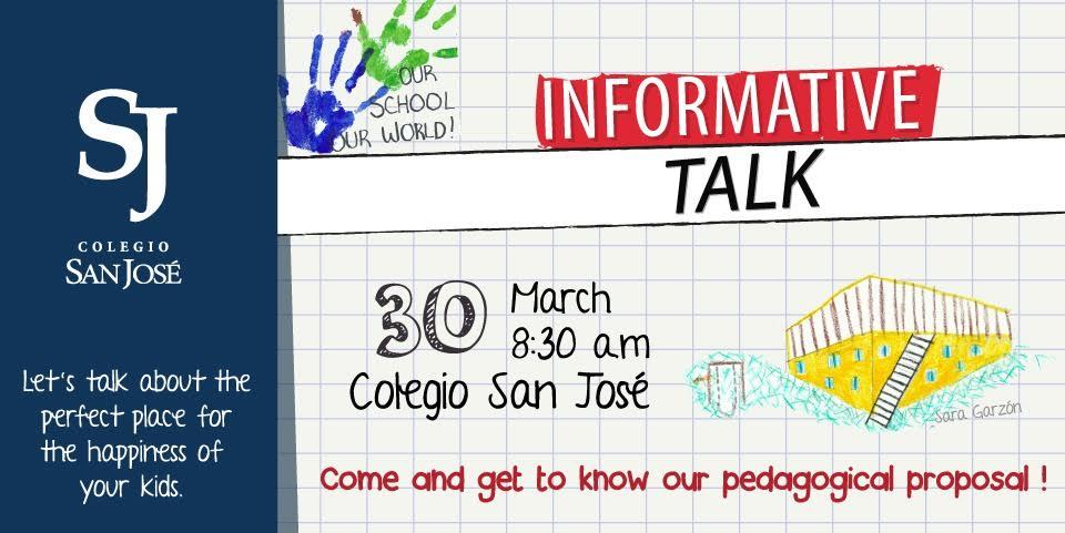 ¡Asiste a la charla informativa este 30 de marzo! - Colegio San José (Cajicá)