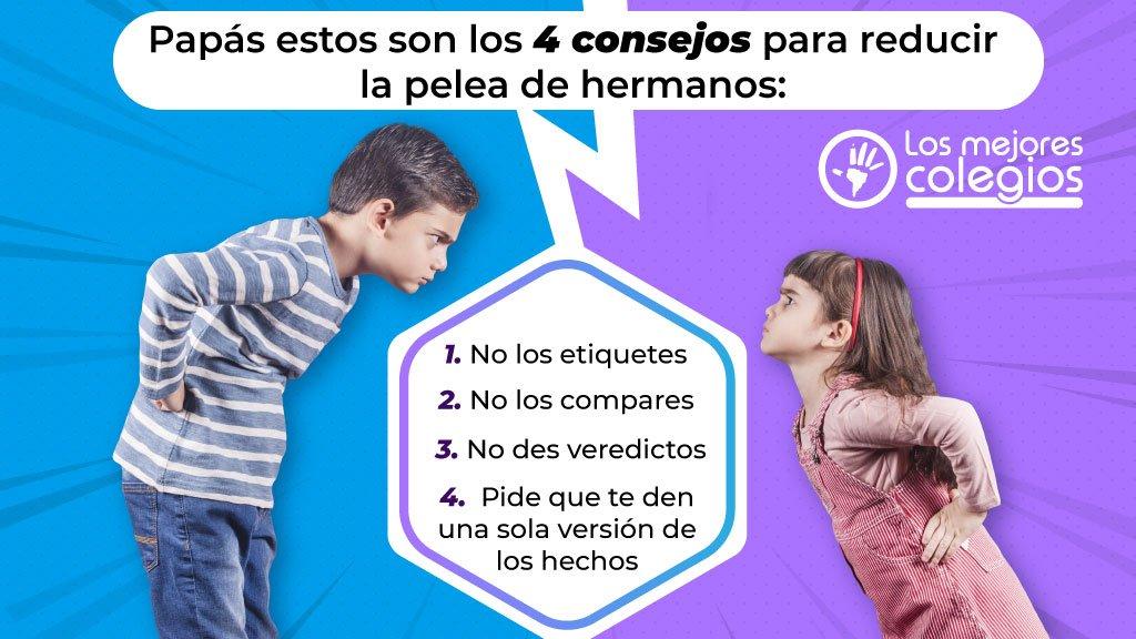 4 consejos para reducir la pelea de hermanos