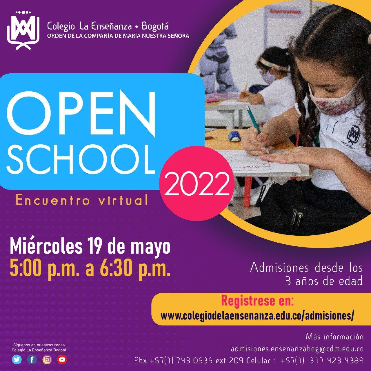 Haz parte del OPEN SCHOOL VIRTUAL del Colegio La Enseñanza