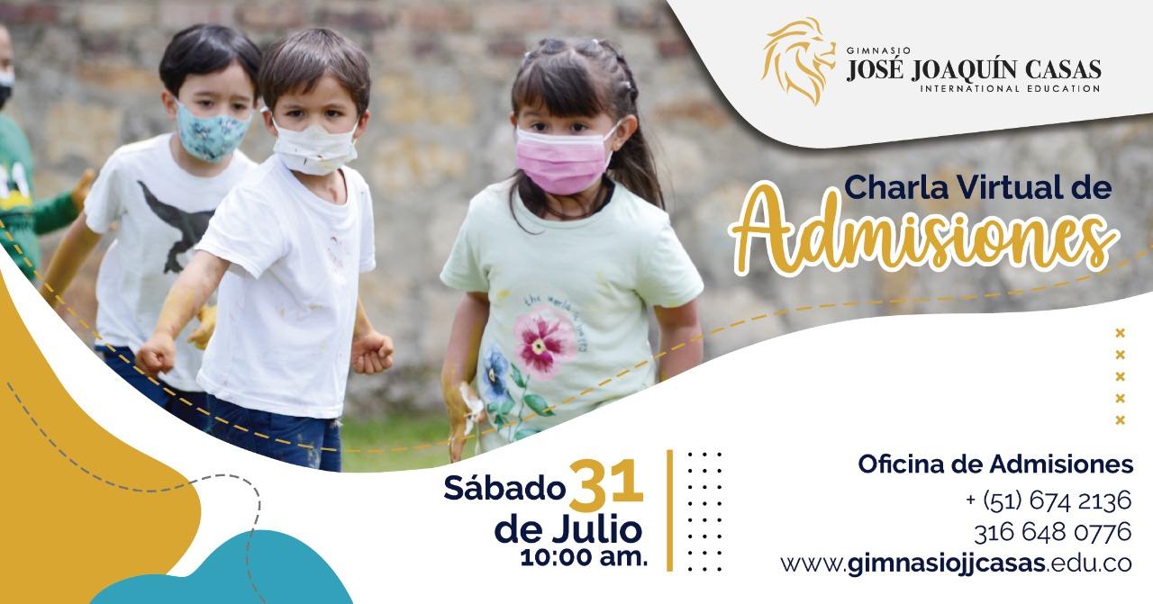Charla virtual del Gimnasio José Joaquín Casas sobre nivel académico y convivencial