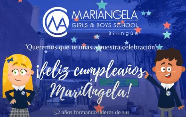 Colegios MariÁngela feliz cumpleaños