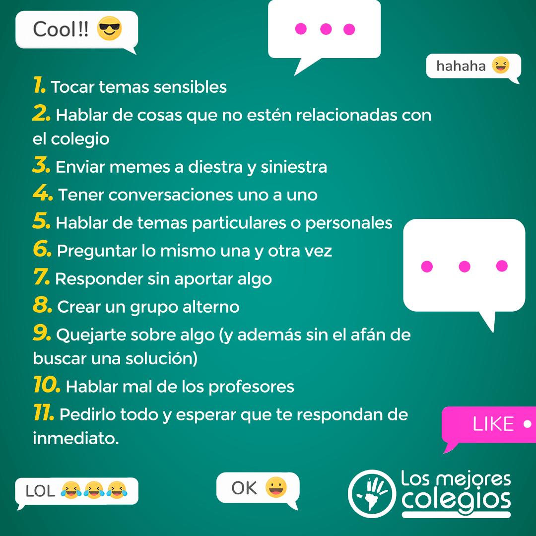 Grupo de WhatsApp - Los Mejores Colegios